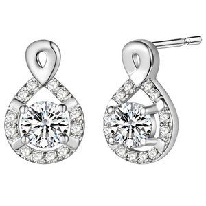 3.20 Ct round brilliant cut diamonds lady studs ea